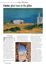Farina: Ghost Town On The Gibber - Australian Heritage Magazine