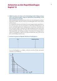 Antworten zu den Repetitionsfragen Kapitel 14
