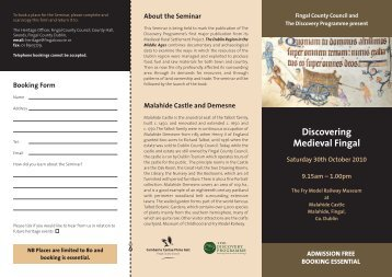 to download further information in PDF - The Heritage Council