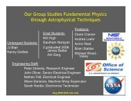 Our Group Studies Fundamental Physics through Astrophysical ...