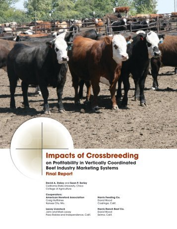 Impacts of Crossbreeding - American Hereford Association