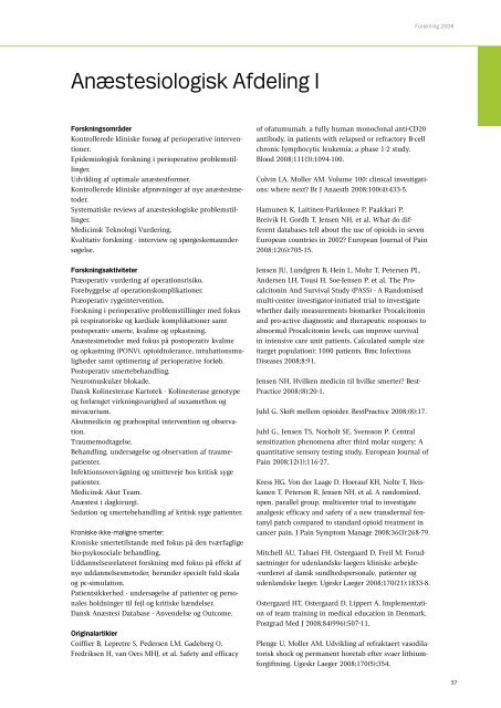 Forskning 2008 - Herlev Hospital