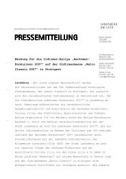 PRESSEMITTEILUNG - Stadt Landsberg am Lech