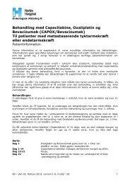 CAPOX/Bevacizumab - Herlev Hospital