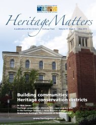 Heritage conservation districts, May 2013