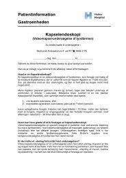 Patientinformation Gastroenheden Kapselendoskopi - Herlev Hospital