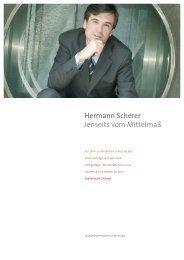 Hermann Scherer Jenseits vom Mittelmaß