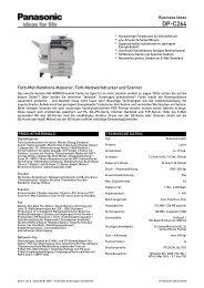 Datenblatt: DP-C264