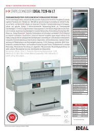 IDEAL 7228-06 LT Stapelschneider PDF Datenblatt