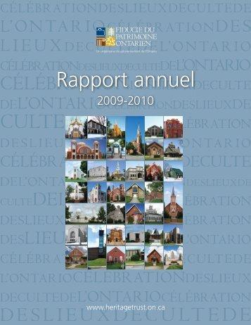 2009-2010 - Fiducie du patrimoine ontarien