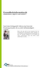 Krankengymnastik - Hamburg gegen den Schlaganfall