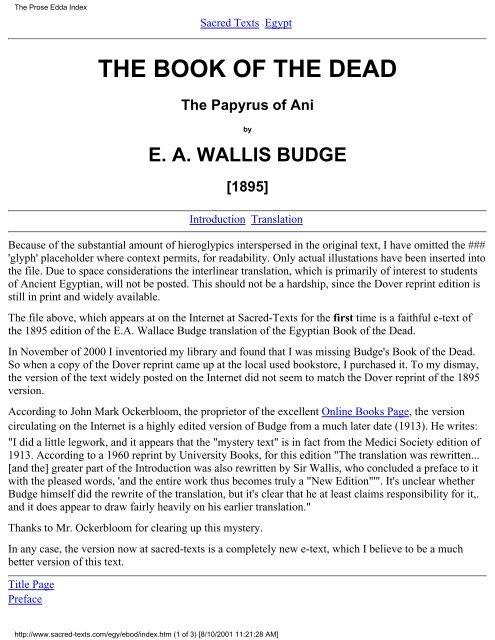the Book of the Dead ( PDF )