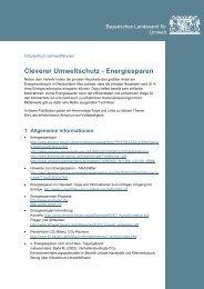 Sammlung von wichtigen Infos und Links zum Thema Energie sparen