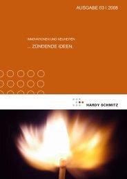 Innovationen & Neuheiten - Ausgabe III-2008 - Hardy Schmitz Shop