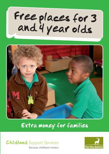 Free places for 3 and 4 year olds - Hertfordshire Children's Centres