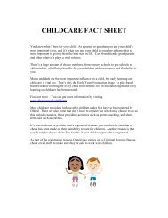 CHILDCARE FACT SHEET - Hertfordshire Children's Centres