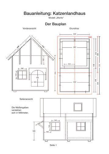 bauanleitung katzenlandhaus geliebte katze. Black Bedroom Furniture Sets. Home Design Ideas