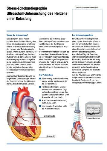Stress-Echokardiographie Ultraschall ... - Herzklinik Ulm