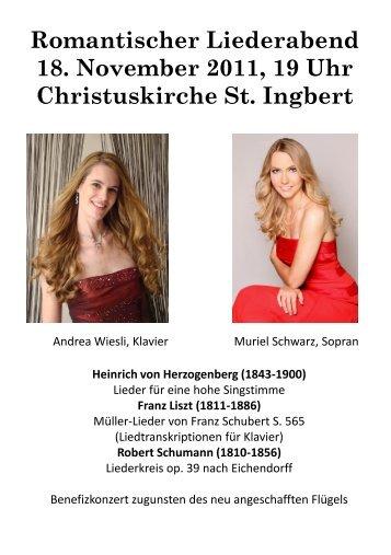 Infos zu den Solistinnen - Heinrich von Herzogenberg, Komponist