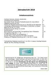 Jahresbericht 2010 - Heinrich von Herzogenberg, Komponist