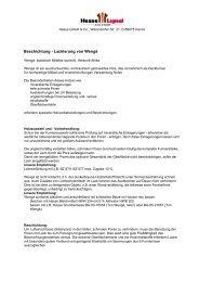 Beschichtung - Lackierung von Wengé - Hesse Lignal