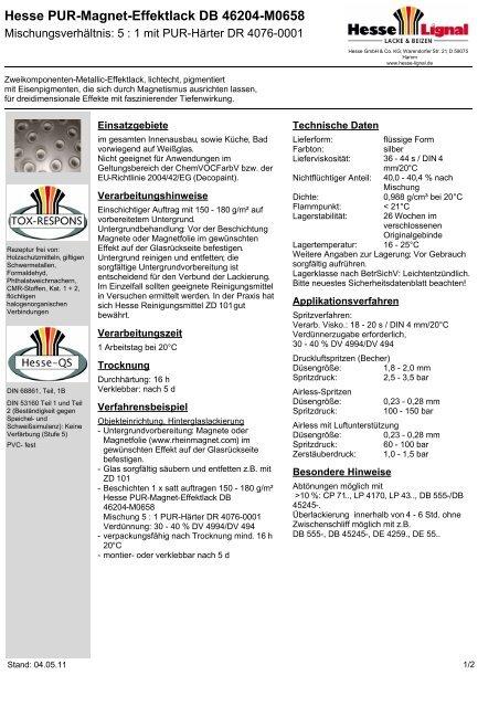 Magneteffekt - Hesse Lignal