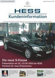 Die neue S-Klasse - Mercedes-Benz Hess GmbH & Co. KG