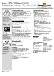 Hesse HYDRO-PUR Briljantlak HDE 599 - Hesse Lignal
