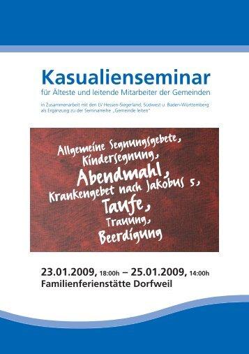 Kasualienseminar - Landesverband Hessen-Siegerland