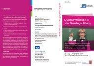 Jugendverbände in der Ganztagsbildung - Ganztägig Lernen - Hessen