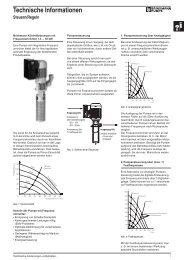 Technische Informationen - BRINKMANN PUMPS