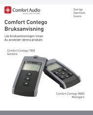 Comfort Contego Bruksanvisning - Headsetshoppen