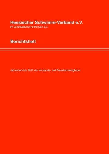 Berichtsheft 2012 Ohne Finanzen - Hessischer Schwimm-Verband eV