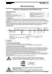 Tauchpumpen der Reihe STH360/645...650 - Brinkmann Pumps
