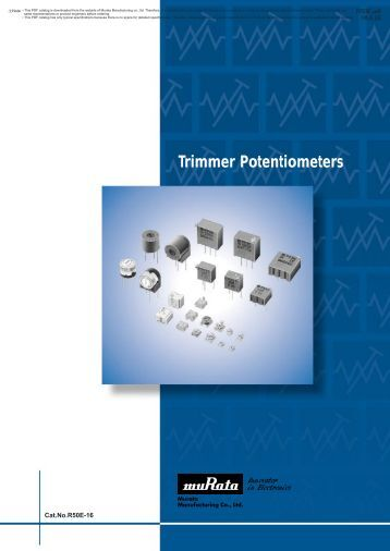 Trimmer Potentiometers - ECEE