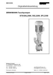 Brinkmann-Tauchpumpen STA/SAL2500 ... - Brinkmann Pumps