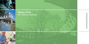 Memory Klinik der Hessing Stiftung