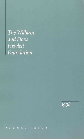 ?e William nd Flora [ewlett foundation - Hewlett Foundation