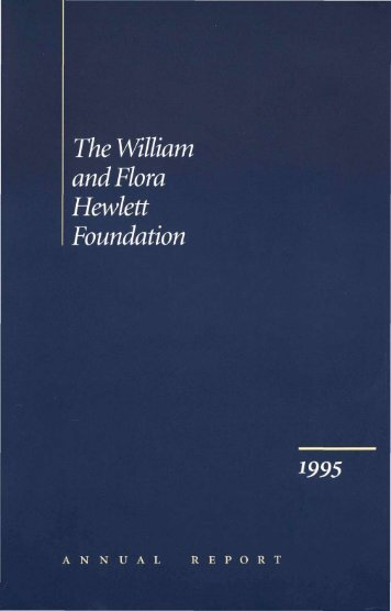 The William and Flora Hewlett Foundation 1995