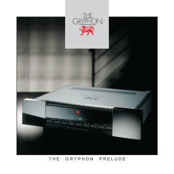 Download brochure - Gryphon Audio Designs