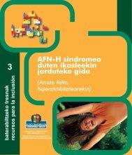 AFN-H sindromea duten ikasleekin jarduteko gida - Hezkuntza ...
