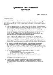 2. Elternbrief 10-11 - Gymnasium Maxdorf