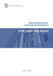 JYSE 2009 PALVELUT - Valtiovarainministeriö