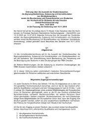 Immatrikulationsordnung der Hochschule für Bildende Künste ...