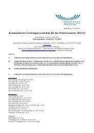 Wintersemester 2012/13 - Hochschule für Jüdische Studien ...