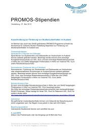 PROMOS-Stipendien - Hochschule für Jüdische Studien Heidelberg