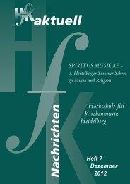 HfK aktuell 2012 (ca. 12 MB) - Hochschule für Kirchenmusik