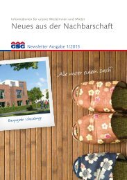 Newsletter 1-2013 - GSG Oldenburg
