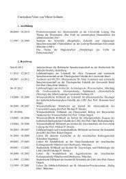 Curriculum Vitae - Hochschule für Jüdische Studien Heidelberg