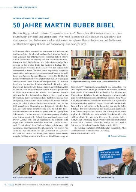 Mussaf - Hochschule für Jüdische Studien Heidelberg